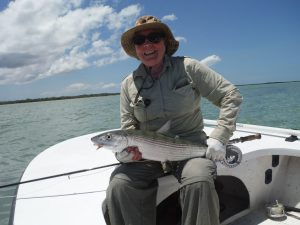 Val with a nice Bonefish in Cuba
